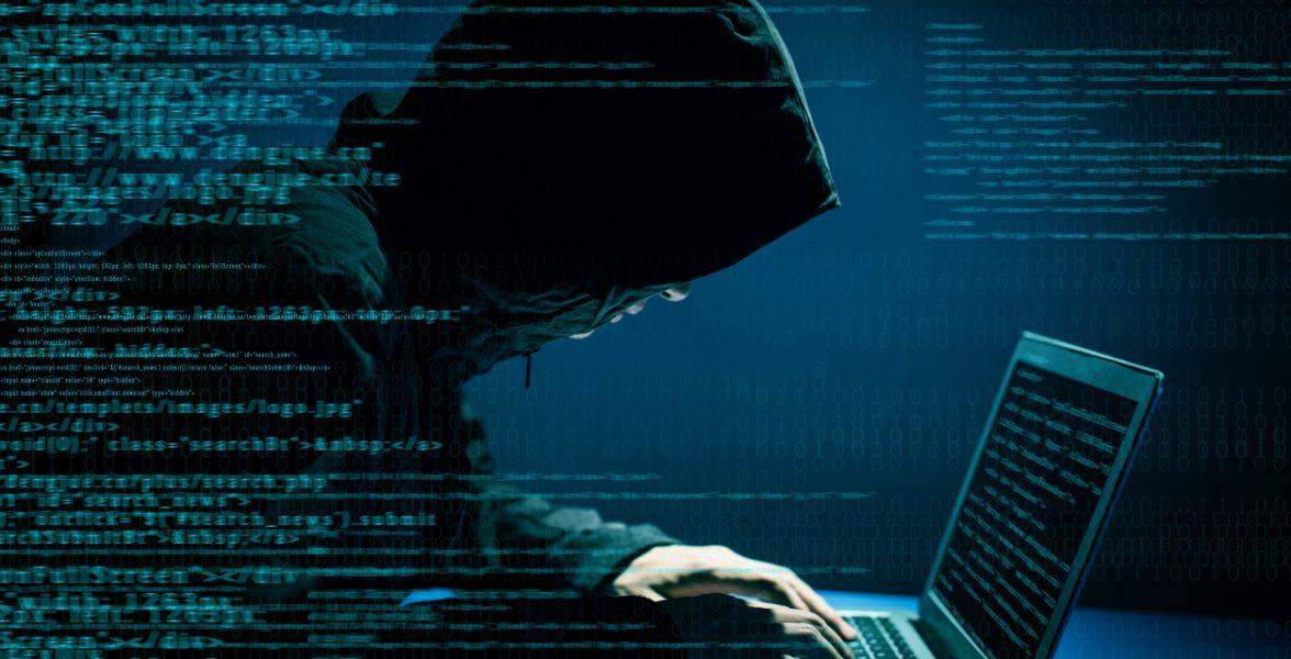 Hacker attacking internet